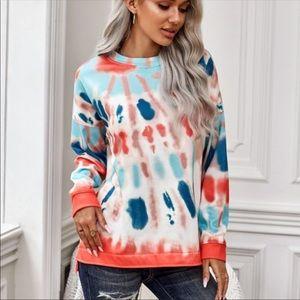 💃🏻Gia Tie Dye crew neck pullover sweater